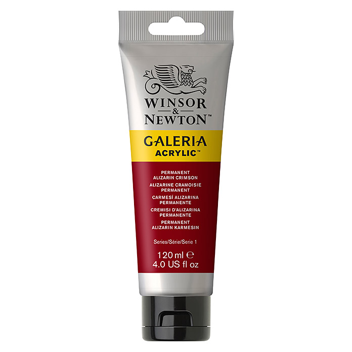 Winsor & Newton Galeria Acrylfarbe (Permanent Alizarinkarmesin, 120 ml, Tube)