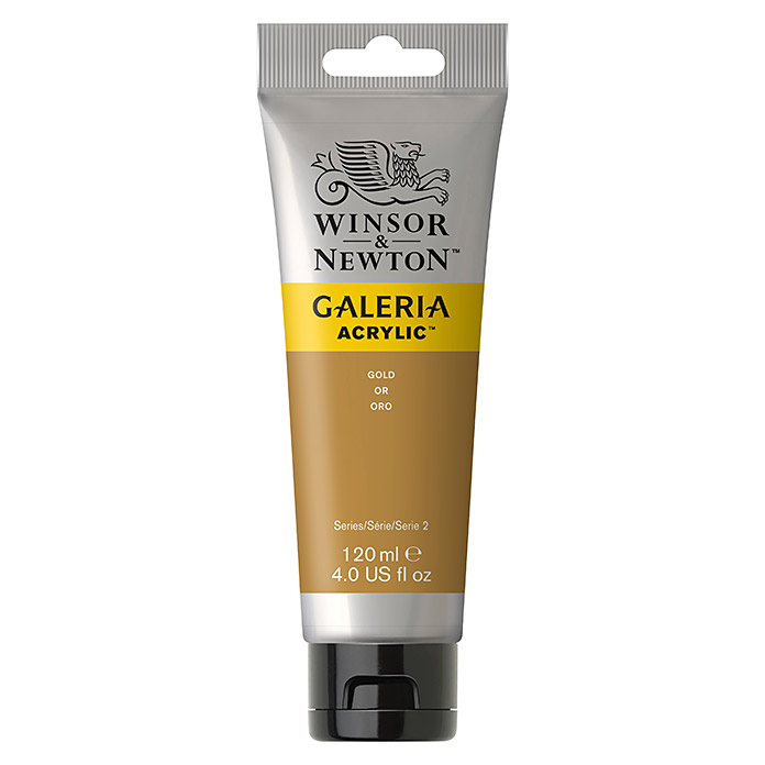 Winsor & Newton Galeria Acrylfarbe (Gold, 120 ml, Tube)