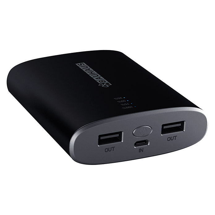 BAUHAUS Smartphone Power Bank Soft (10.400 mAh, 2 x USB 2.0 A ...