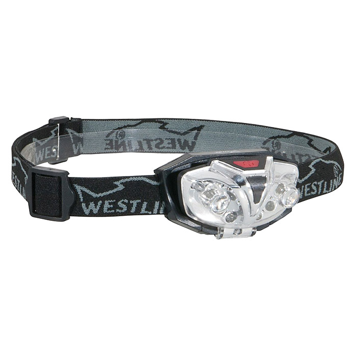 Westline LED-Kopflampe Duo (Extrem helle LED´s, 4 x weiß, 2 x rot umschaltbar )