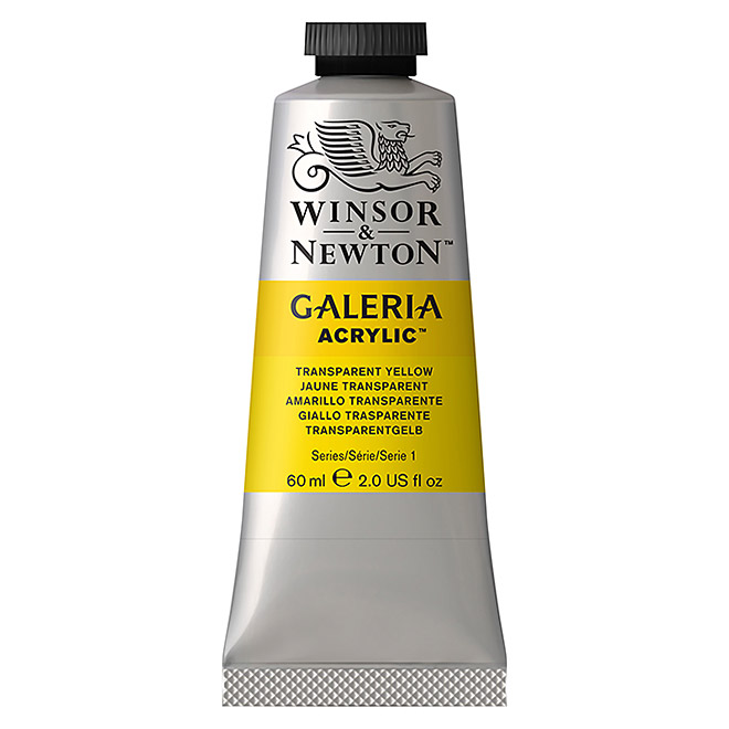 Winsor & Newton Galeria Acrylfarbe  (Transparent Gelb, 60 ml)