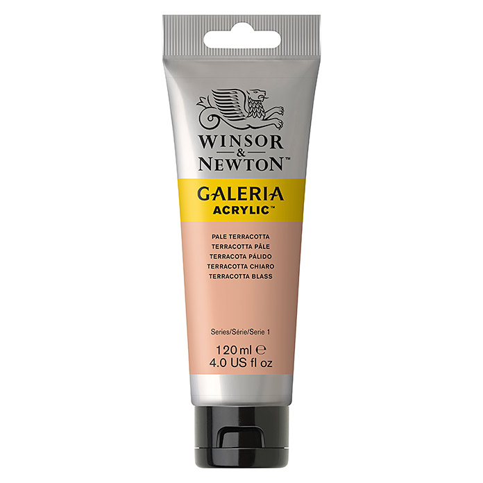 Winsor & Newton Galeria Acrylfarbe (Terracotta blass, 120 ml, Tube)