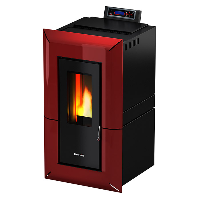 PELLETOEFEN MIKA METALL BORDEAUX 5,5 KW