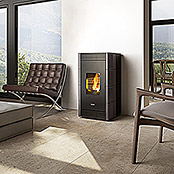 PELLETOEFEN VERVE KERAMIK WARM GREY 8,5 KW