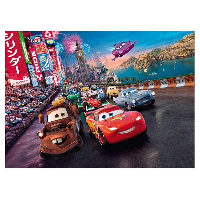 komar fototapete disney cars race 4 tlg 254 x 184 cm. Black Bedroom Furniture Sets. Home Design Ideas