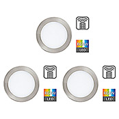 SET 3XLED-RGB-EINBAUSPOT Ø170 NICKEL-M.