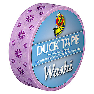 Duck Tape Kreativklebeband Washi (Purple Flower, 10 m x 15 mm)