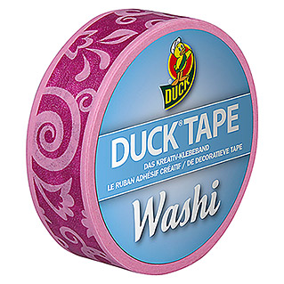 Duck Tape Kreativklebeband Washi (Purple Cirrus, 10 m x 15 mm)