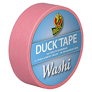 Duck Tape Kreativklebeband Washi (Bright Rose, 10 m x 15 mm)