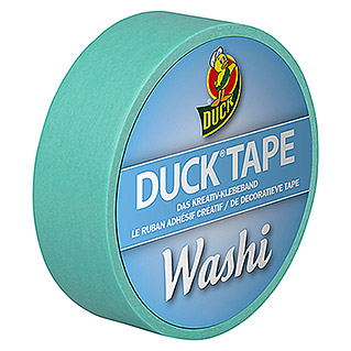 Duck Tape Kreativklebeband Washi (Bright Blue, 10 m x 15 mm)