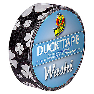 Duck Tape Kreativklebeband Washi (Black Clover, 10 m x 15 mm)