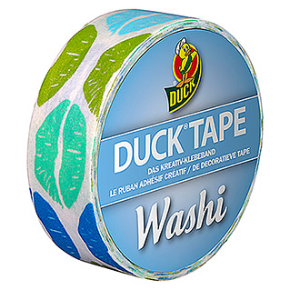 Duck Tape Kreativklebeband Washi (Aqua Kiss, 10 m x 15 mm)