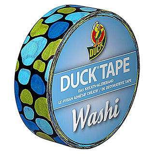 Duck Tape Kreativklebeband Washi (Aqua Cobbles, 10 m x 15 mm)