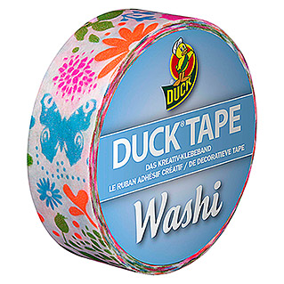 Duck Tape Kreativklebeband Washi (Neon Nature, 10 m x 15 mm)
