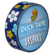 Duck Tape Kreativklebeband Washi (Sea of Blossom, 10 m x 15 mm)