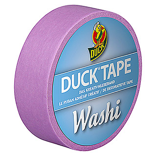 Duck Tape Kreativklebeband Washi (Bright Purple, 10 m x 15 mm)