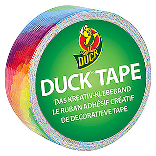 Duck Tape Kreativklebeband Duckling (Bright Rainbow, 4,5 m x 19 mm)