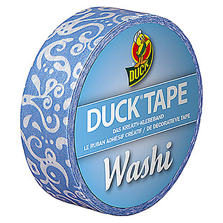 Duck Tape Kreativklebeband Washi (Blue Cirrus, 10 m x 15 mm)