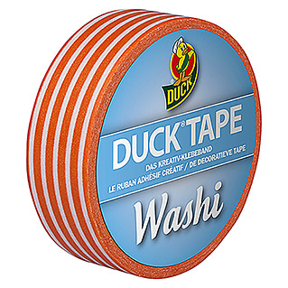 Duck Tape Kreativklebeband Washi (Orange Stripes, 10 m x 15 mm)