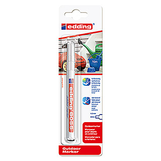 Edding Outdoormarker 8055 (Streepdikte: 1 mm, Wit)