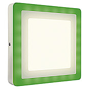 LED DECKENL.  19W   COLOR + WHITE QUADR.