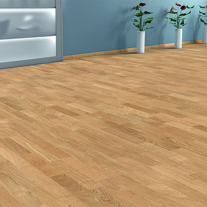 Living by Haro Suelo de madera prefabricado Roble Natural (1.085 x 180 x 12 mm, Efecto madera de barco)