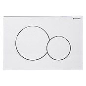 Geberit Placa de accionamiento Sigma 01 (Blanco, 2 descargas)