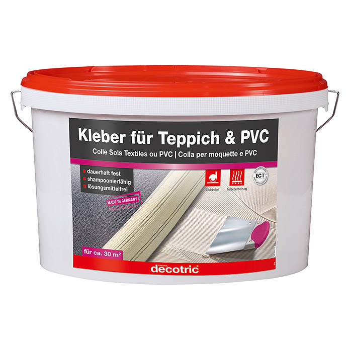 decotric teppich pvc kleber 10 kg gebrauchsfertig innen bauhaus. Black Bedroom Furniture Sets. Home Design Ideas