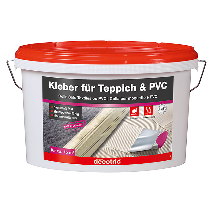 decotric teppich pvc kleber 5 kg gebrauchsfertig. Black Bedroom Furniture Sets. Home Design Ideas