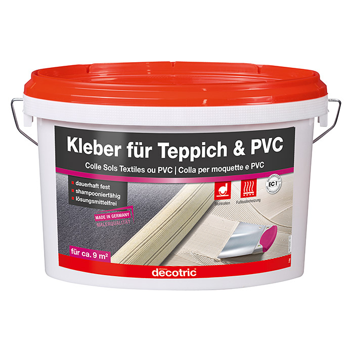 decotric pvc teppich kleber 3 kg gebrauchsfertig innen 6360 pvc teppichkleber. Black Bedroom Furniture Sets. Home Design Ideas