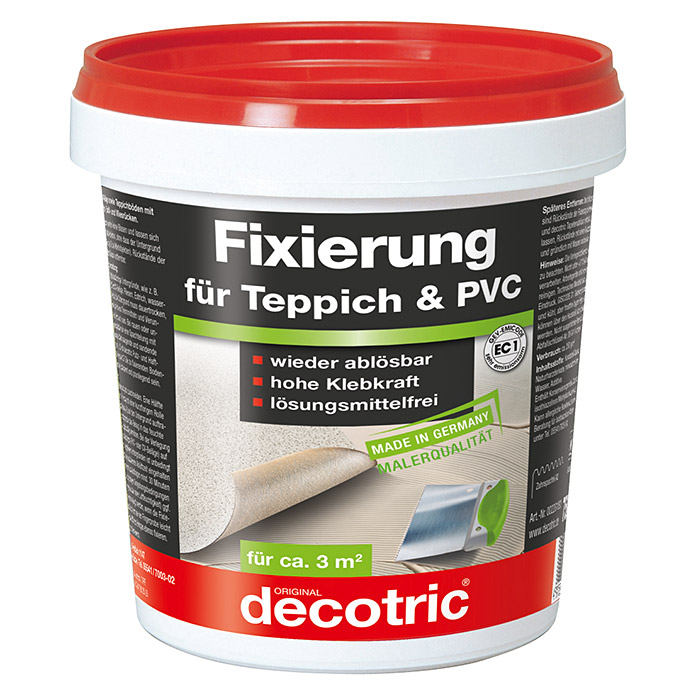 decotric pvc teppich fixierung 750 g gebrauchsfertig innen bauhaus. Black Bedroom Furniture Sets. Home Design Ideas