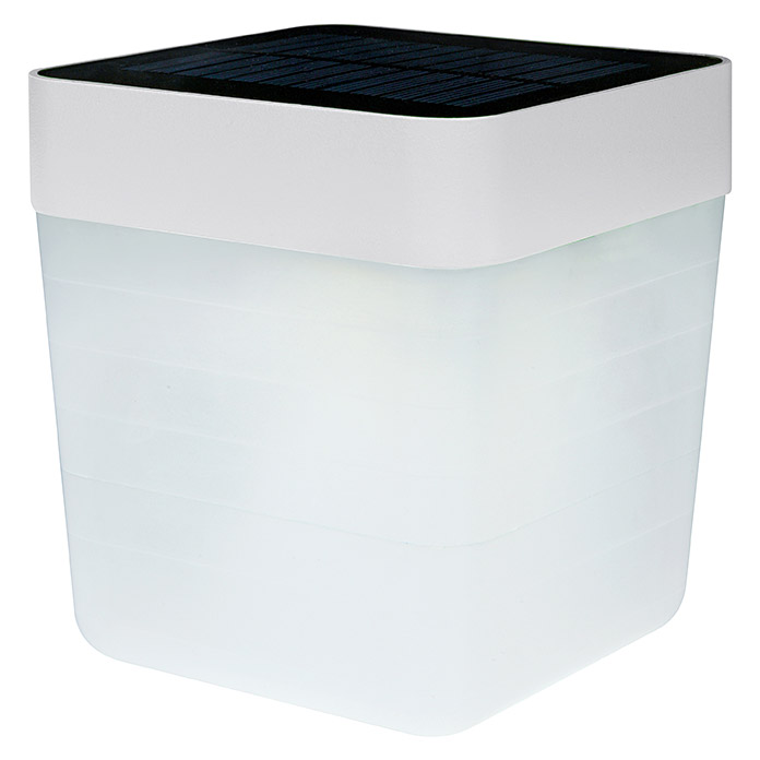 Lutec Lámpara de sobremesa LED Table Cube (1 luz, 1 W, Altura: 12 cm, Blanco)