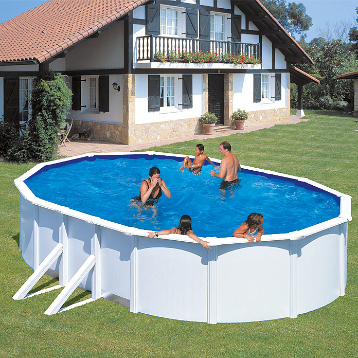 POOLSET FEELING WEISS 7,30 X 3,75 X 1,20
