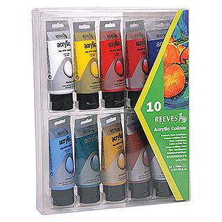 Reeves Acrylfarbenset (10 x 75 ml Tuben)