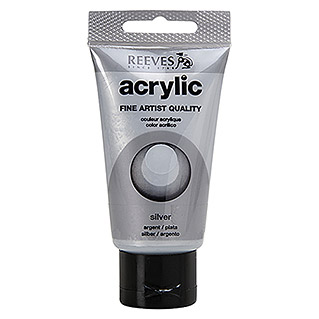 Reeves Acrylfarbe (Silber, 75 ml, Tube)