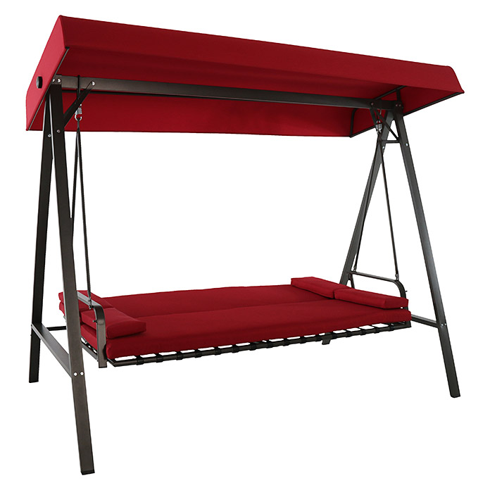 sunfun maja hollywoodschaukel 230 x 135 x 188 cm rot bauhaus. Black Bedroom Furniture Sets. Home Design Ideas