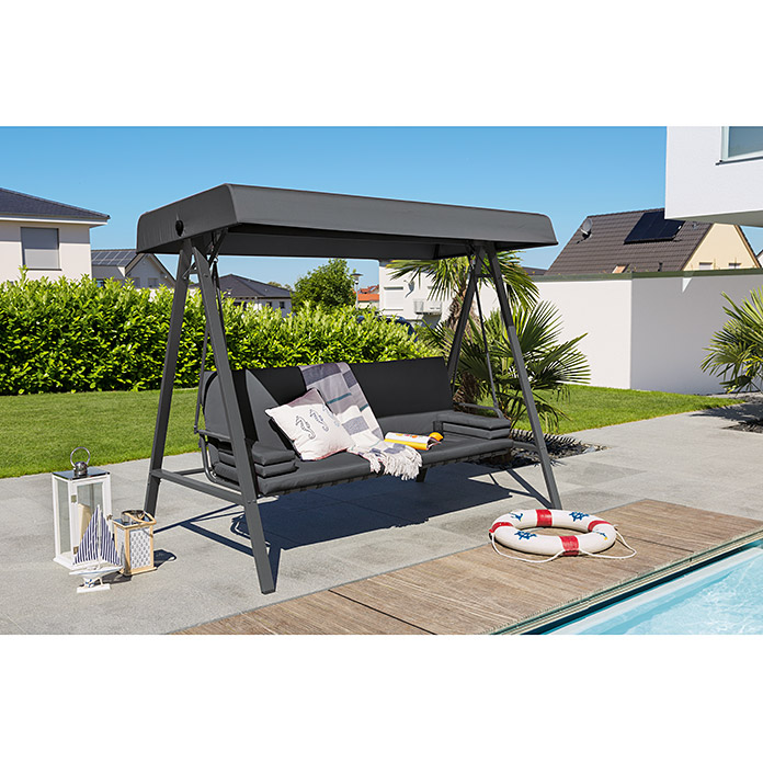 Sunfun maja hollywoodschaukel 230 x 135 x 188 cm for Markise balkon mit tapeten fliesen küche