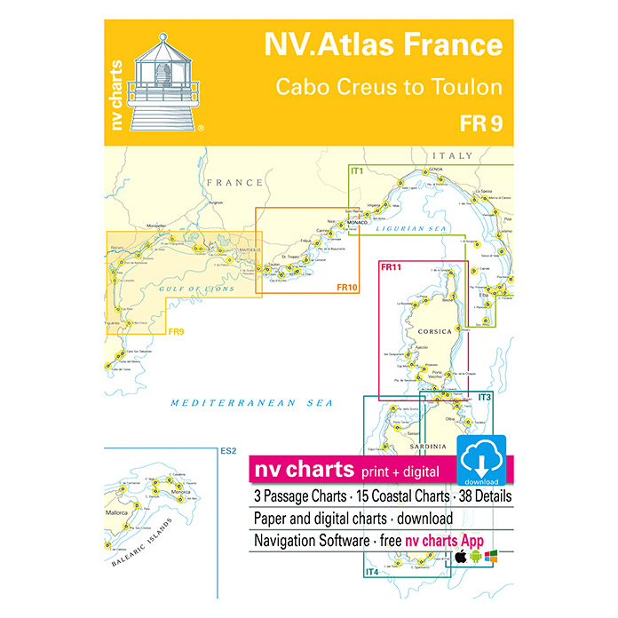 FR 9 ATLAS FRANCE CABO CREUS TO TOULON
