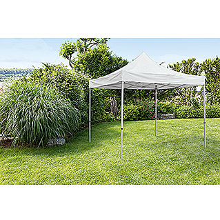Sunfun Pavillon Easy Up Pagoden (300 x 300 cm, Silber)