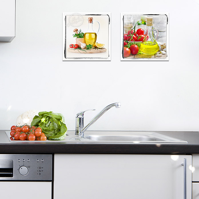 ProArt Kitchen Glasbild (Hot & Spicy I, 20 x 20 cm)