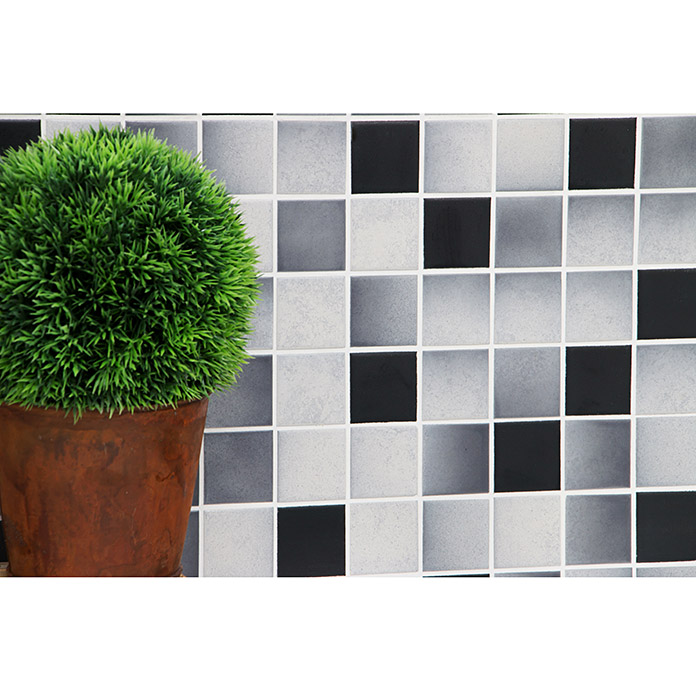 Mosaikfliese Quadrat Mix CD 212 (30,6 x 30,6 cm, Grau, Matt)
