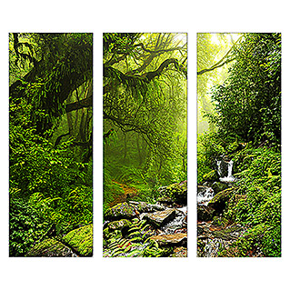 Glasbild (Fairy Tale Forest, 3-tlg., Je 30 x 80 cm)
