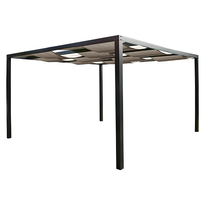 leco pergola loft 360 x 360 x 215 cm lichtgrau bauhaus. Black Bedroom Furniture Sets. Home Design Ideas