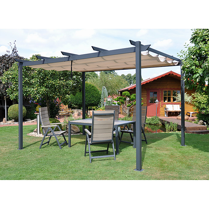 leco pergola 400 x 300 x 225 cm natur bauhaus. Black Bedroom Furniture Sets. Home Design Ideas