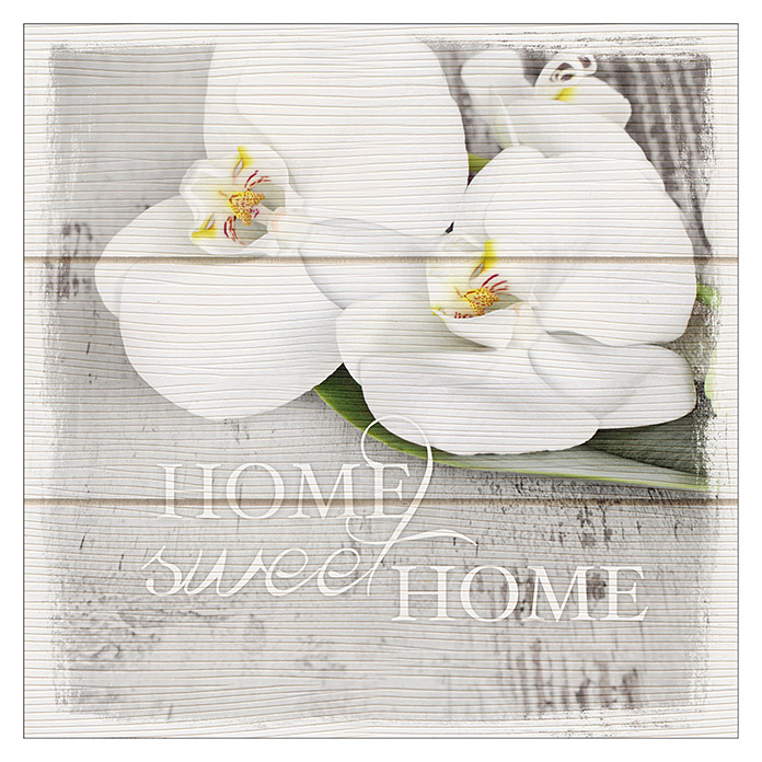Holzbild (Home Sweet Home, 30 x 30 cm) -