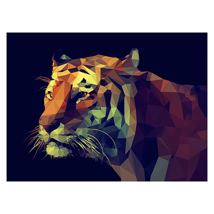 ProArt Young Living Kunstdruck auf Keilrahmen (Colourful Tiger, B x H: 120 x 90 cm)
