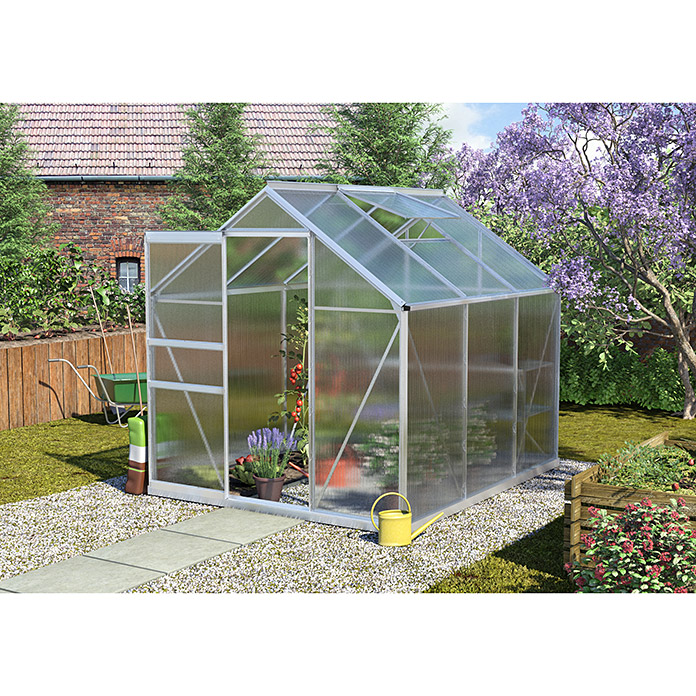 vitavia gew chshaus calypso 4400 2 32 x 1 95 x 2 07 m farbe aluminium polycarbonat 4 mm. Black Bedroom Furniture Sets. Home Design Ideas