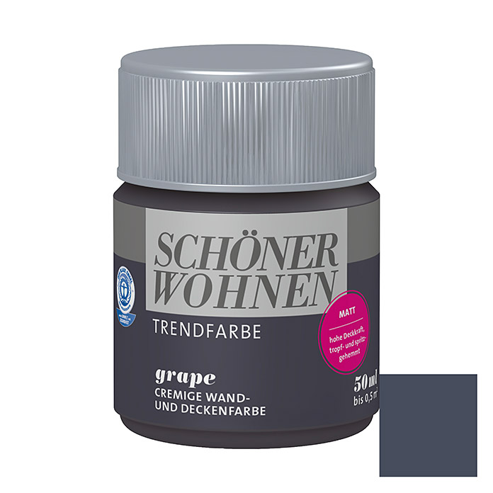sch ner wohnen wand deckenfarbe trendfarbe limited collection grape 50 ml matt bauhaus. Black Bedroom Furniture Sets. Home Design Ideas