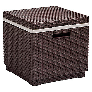 Allibert Kühlbox Ice Cube (Braun, 42 x 42 x 38 cm)