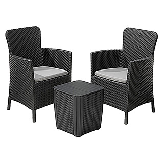 Allibert Loungemöbel-Set Miami (Anthrazit, 3-tlg.)